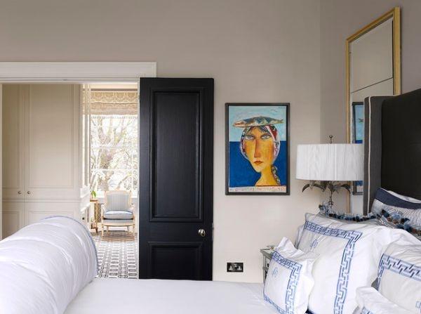 дверь,интерьер,черный цвет,спальня