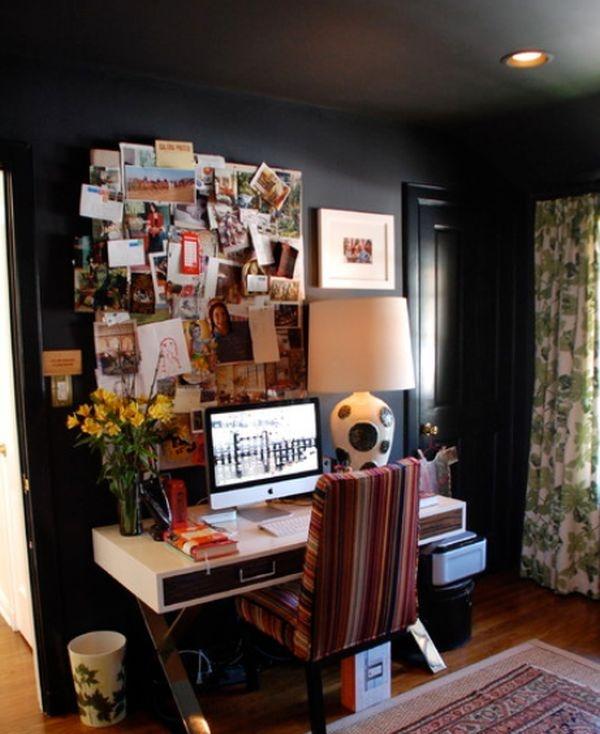 домашний офис в черном стиле