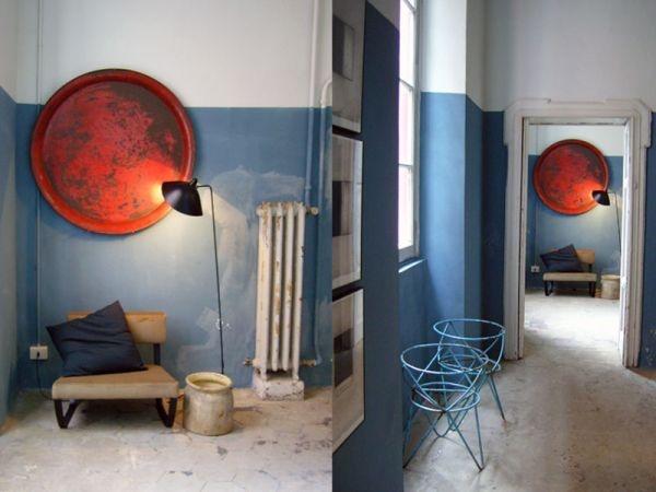 стены,голубые стены,краска