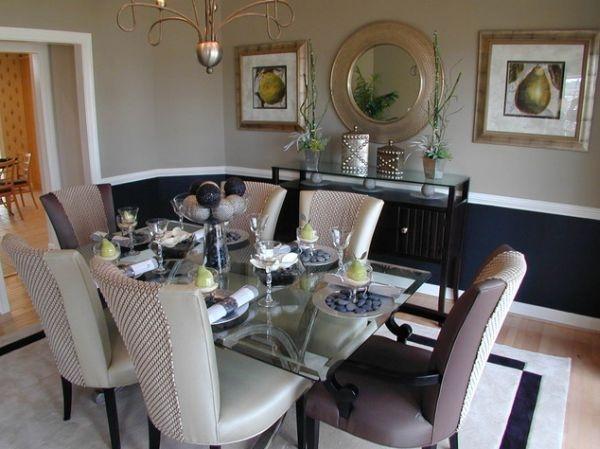 черные стены,краска,стол,обеденный стол,столовая