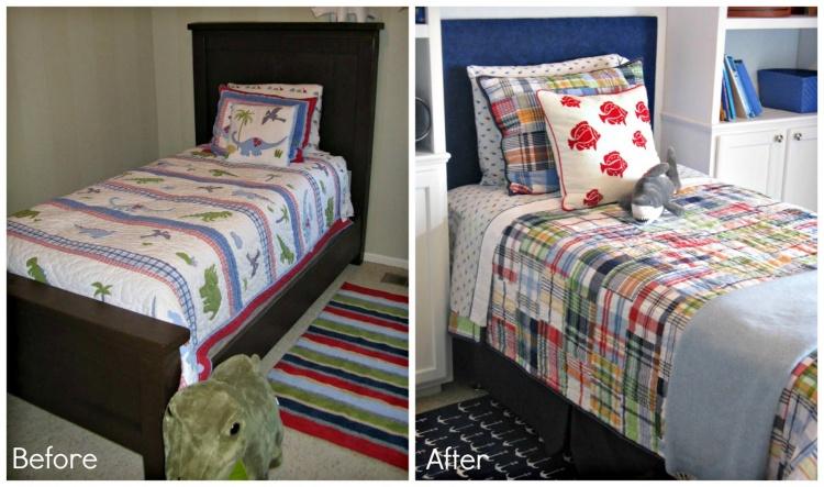 кровать.до и после,детская