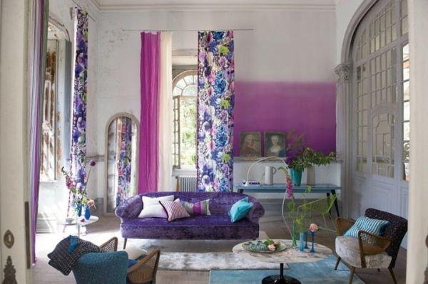 стены,краска,фиолетовые