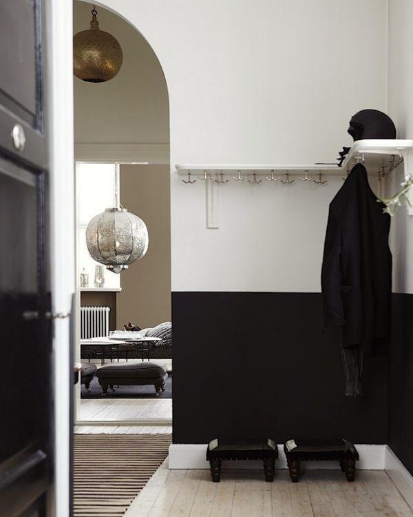 минимализм стены,черный и белый