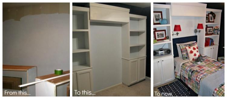 до и после,детская комната