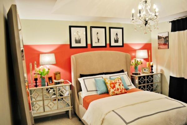 оранжевый,стены,краска.спальня