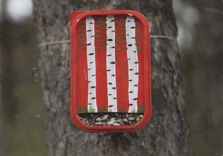 кормушка,сыр,коробка,как сделать кормушку для птиц
