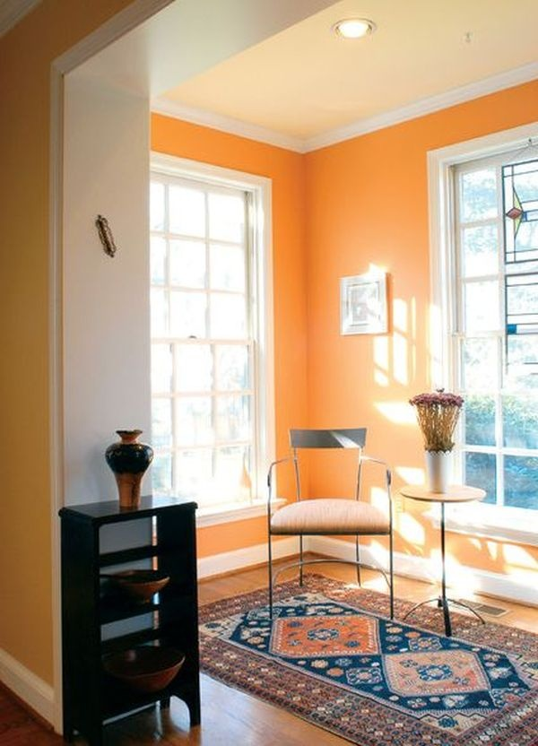 гостиная,оранжевый цвет,свет,окно