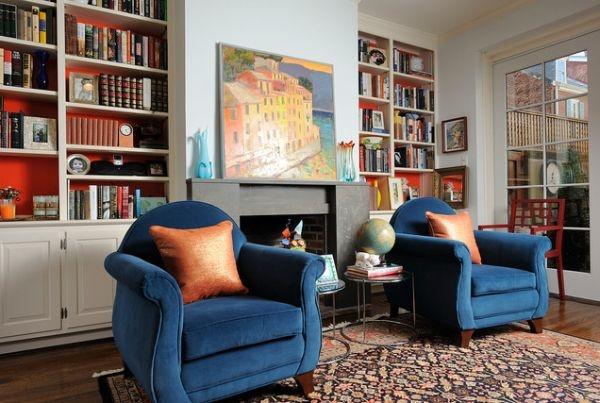 кресла,голубые синие ,мебель,зал