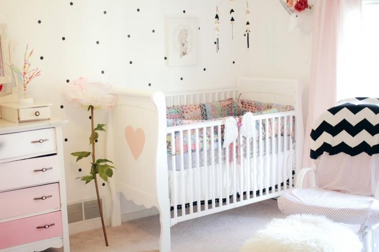 детская,кроватка, розовая