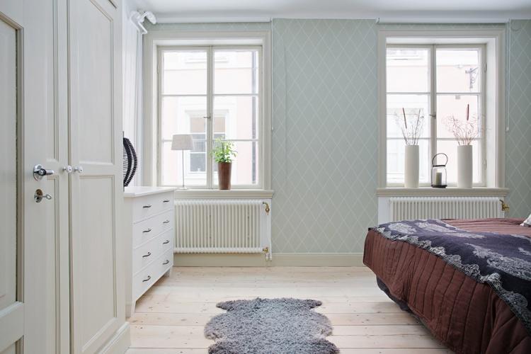 деревенский стиль,квартира,фото,интерьер квартиры,  спальня,ковер