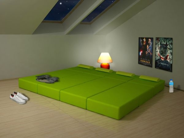 мебель,сборная,раскладная,зеленый диван,тумбочка