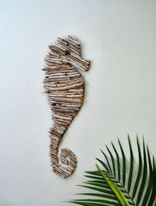 поделки и дерева,из палок,своими руками,морской конек