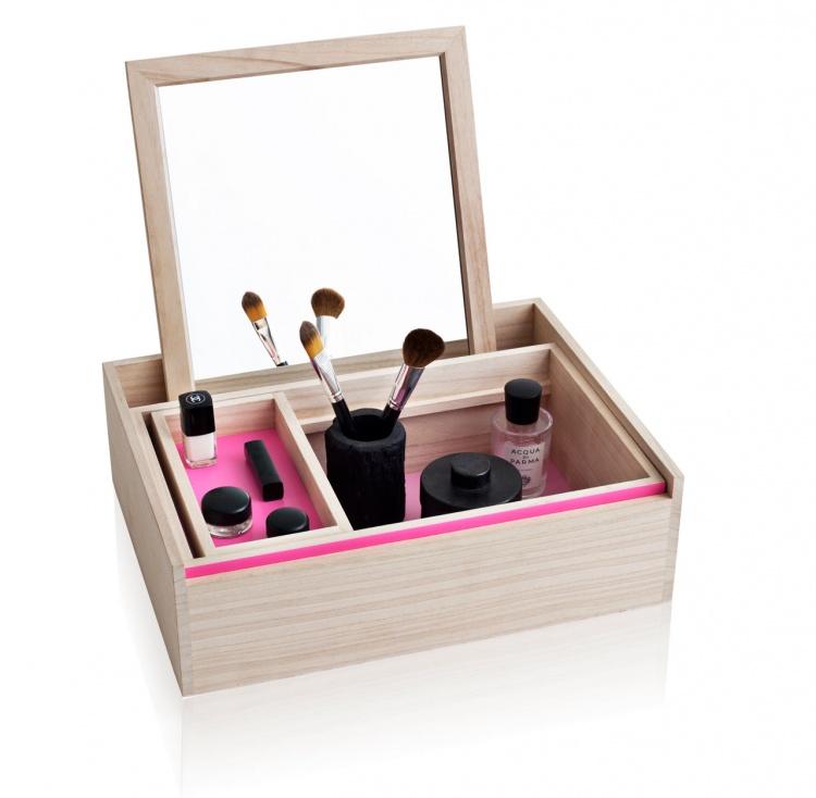 шкатулка для хранения украшений,мини шкатулка,зеркало для макияжа,украшения,хранение украшений дома