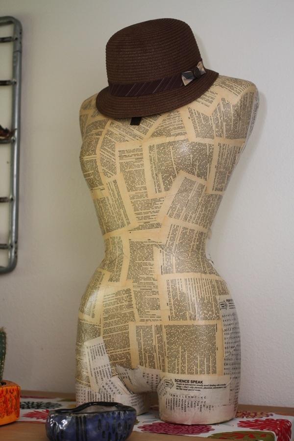 манекен из папье маше.из газет,как сделать манекен,для шляп
