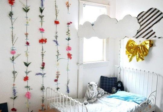 украшение стен,цветы,детска
