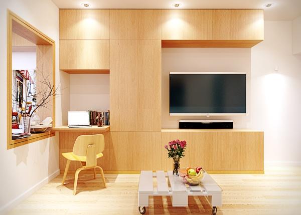 квартира,маленькая,светла,стильная,интерьер,красивая квартира фото,кухня,тв,плазма в квартире