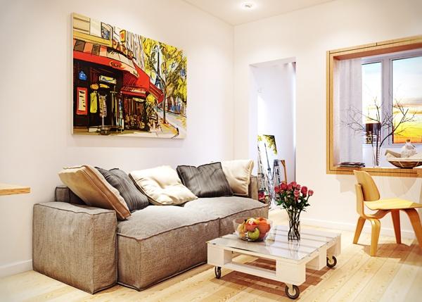квартира,маленькая,светла,стильная,интерьер,красивая квартира фото ,диван,гостиная