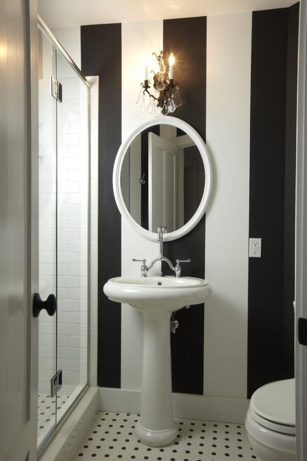 ванная,раковина,черно-белая полоска,зеркало