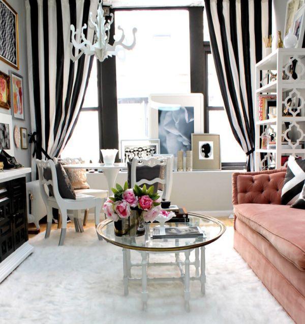 гостиная,черно белый стиль