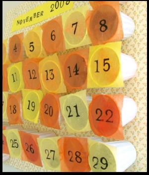 календарь,стакан,ноябрь 2008,бумага,поделки