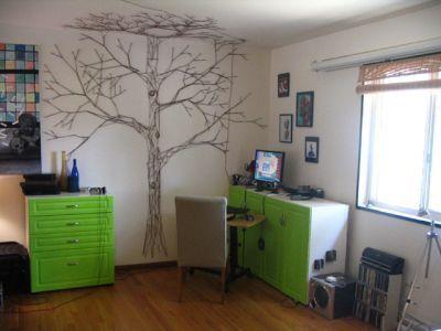 нитки,иголки,дизайн,поделки,стенка,дерево