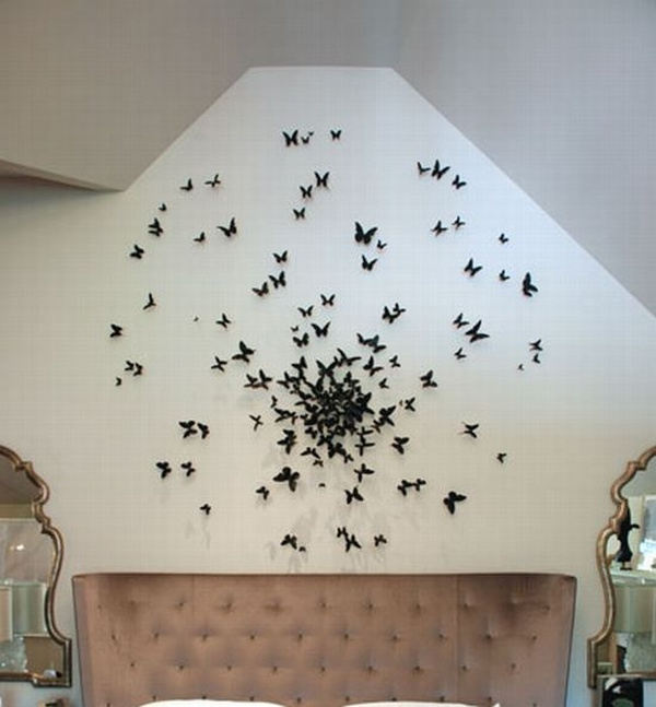 бабочки,идея,стена, украсит,сделай сам,