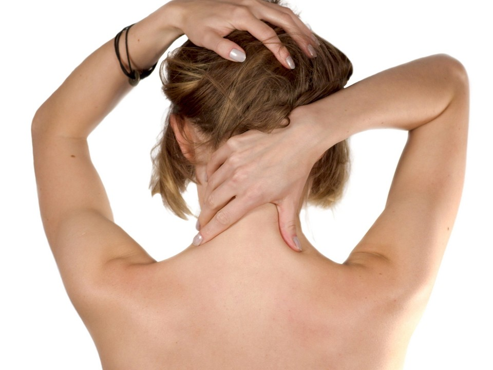 woman, self-massage, massage, headache, head, feel better